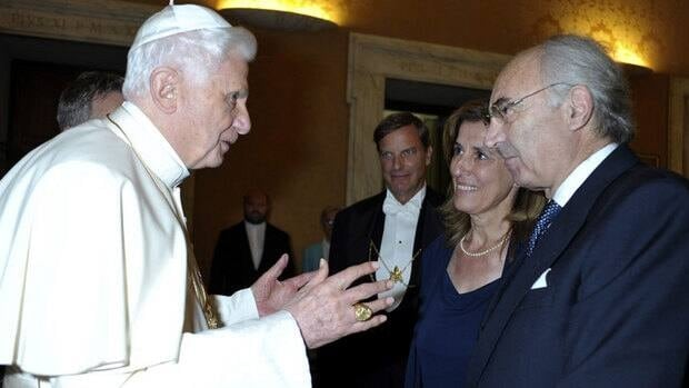 In this 2010 photo provided by the Vatican newspaper L'Osservatore Romano, Pope Benedict meets Ettore Gotti Tedeschi, chairman of the Vatican Bank. Tedeschi was ousted after a no-confidence vote of the Vatican Bank governing body on May 24, 2012.