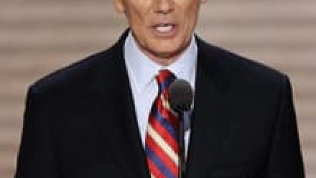 Ohio Senator Rob Portman, pictured here addressing the Republican National Convention in Tampa, Fla., on Wednesday, spoke at Friday's memorial service for Armstrong.