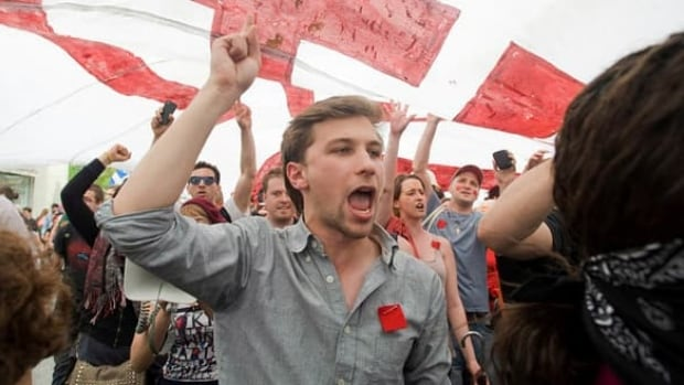 "In September, Gabriel Nadeau-Dubois told channel RDI that ""it's legitimate for students to take the necessary means to respect the democratic choice that was made to go on strike."""