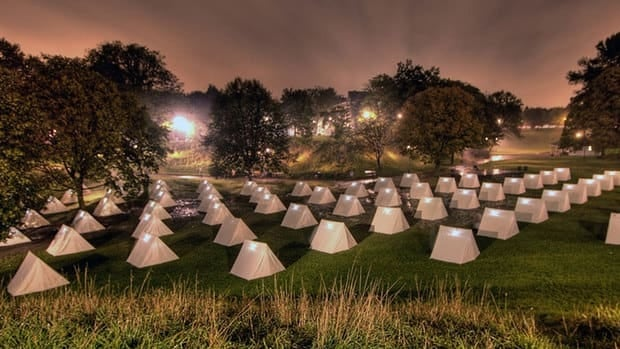 The Encampment, to be erected at Fort York, will feature a different exhibit or story inside each tent.