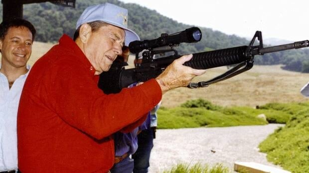 Richard Feldman, a longtime gun lobbyist, gave U.S. President Ronald Reagan his first semi-automatic rifle.