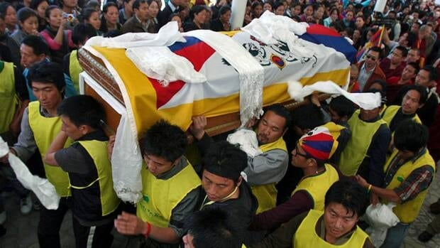 In March Tibetan exile Jamphel Yeshi, 27, set himself ablaze in India to protest a visit by China's President Hu Jintao. He was one of more than 50 Tibetans to choose self-immolation to protest Chinese rule in the Himalayan region, according to officials with London-based Free Tibet.