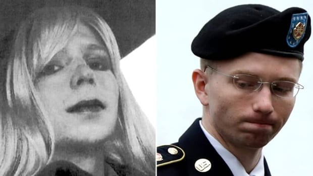 A photo, left, that Bradley Manning emailed to his therapist while he was in the army shows him in a wig and lipstick. After receiving a 35-year prison term for sending classified information to WikiLeaks, Manning said that he would like to live as a woman and be called Chelsea.