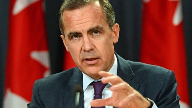 The governor of the Bank of Canada, Mark Carney, said Wednesday there are conflicting signals or mixed signals about the financial health of Canadian households.