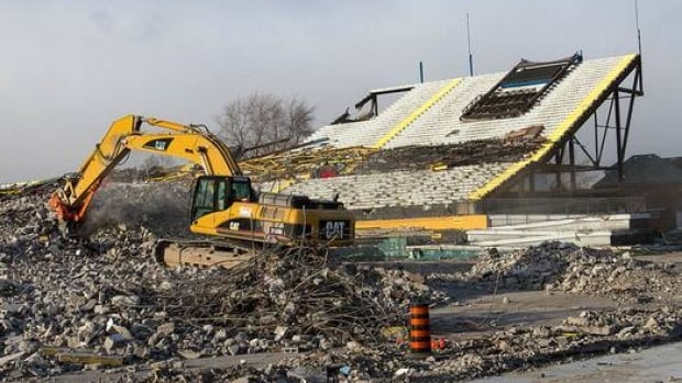 The demolition of Ivor Wynne stadium started in December and should wrap up by the end of February.
