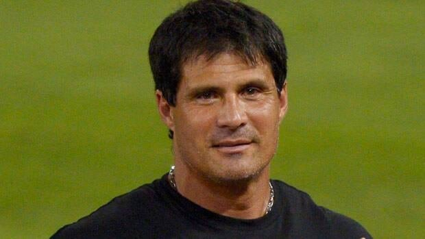Jose Canseco, seen at a 2012 game in Los Angeles, tweeted about the fact he is under investigation. Mark J. Terrill/Associated Press