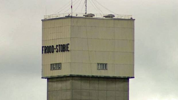 Nickel mining giant Vale's Frood-Stobie mining head frame.