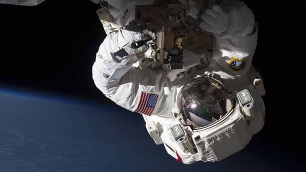 U.S. astronaut Chris Cassidy installed a new space-to-ground radio transmitter on the International Space Station during Tuesday's spacewalk.