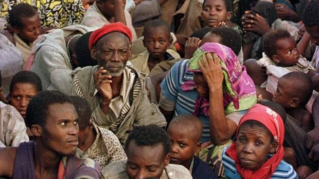 Rwandan Hutu refugees are seen here evacuated by train from the Biaro refugee camp south of Kisangani in eastern Congo, then Zaire, in May 1997.