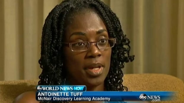 Antoinette Tuff described in an interview with ABC News how she helped Michael Brandon Hill surrender to Georgia police.