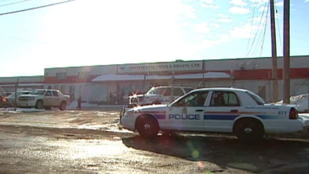 A woman died after she was struck by a vehicle in the parking lot of Continental Chain and Rigging in south Edmonton.