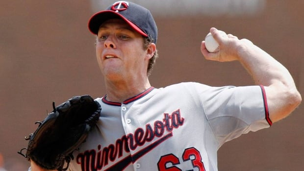 Canadian pitcher Andrew Albers of the Minnesota Twins has been solid in his first five major league starts, posting a 2-2 record and 2.92 earned-run average.
