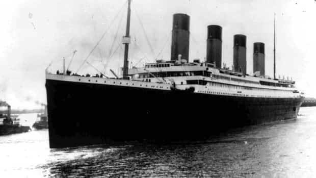 In this April 10, 1912, file photo, the Titanic leaves Southampton, England, on its maiden voyage to New York City. Five days into its journey, the ship struck an iceberg and sank, resulting in the deaths of more than 1,500 people.