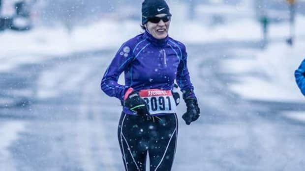 Josee Hotton, pictured here running in Mount Pearl in 2012, had just completed the 2013 Boston Marathon when the explosions occurred.
