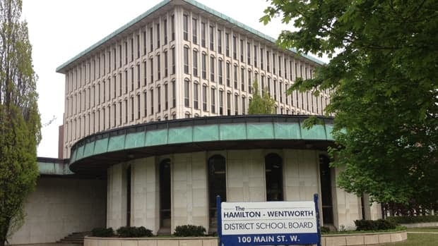 The Hamilton-Wentworth District School Board has applied to sever the land that is currently home to its education centre. (Samantha Craggs/CBC)