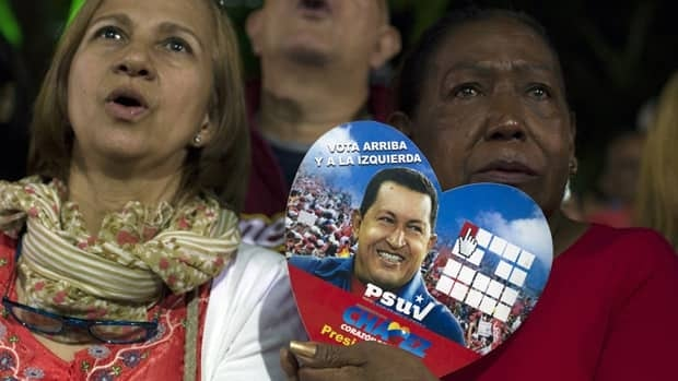 Supporters of Venezuela's President Hugo Chavez, who has suffered complications following complex cancer surgery in Cuba.