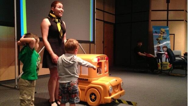 The Sudbury Student Services Consortium's First-Time Rider program is held annually for more than 600 junior kindergarten students to ensure new bus riders know what to watch for on the road, especially in construction zones.