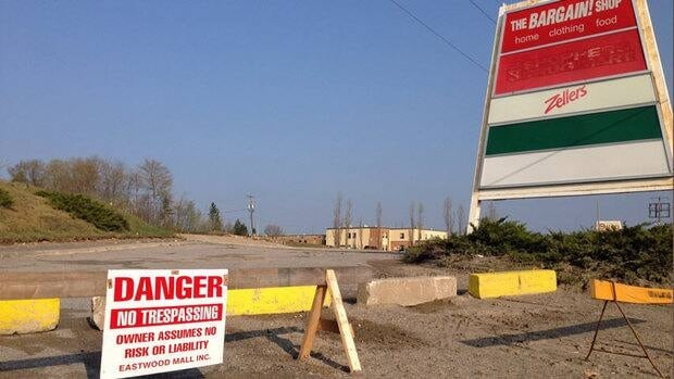 The site of the former Algo Centre Centre Mall, which collapsed in June of 2012, has been cleared of the wreakage.