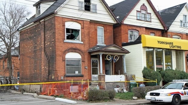 The fire started at the back of the house at 78 Wentworth Street South, on the fire escape, according to investigators.