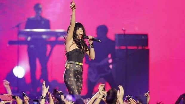 Canadian singer Carly Rae Jepsen performs during the 2012 MTV European Music Awards show at the Festhalle in Frankfurt, Germany, on Sunday.