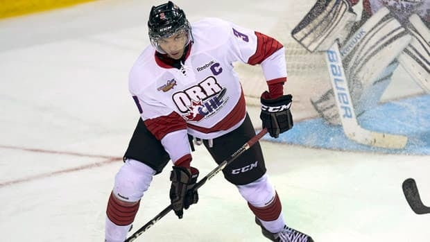 Seth Jones, seen at the CHL Top Prospects Game in Halifax on Jan. 16, could be the first defenceman taken first in the NHL draft in seven years.