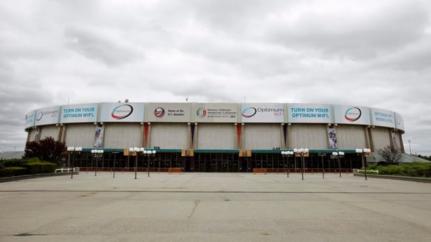 Nassau Veterans Memorial Coliseum home of the the New York Islanders NHL hockey team is shown in Uniondale, N.Y. The arena may finally get a much-needed renovation, despite the fact that the Isles may no longer be playing there after 2015.