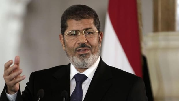 Egyptian President Mohammed Morsi, seen in this July 2012 photo,