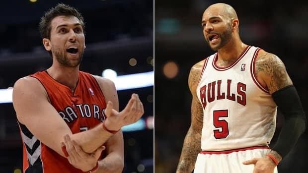 Carlos Boozer, right, would add power in the paint for the Raptors, while Andrea Bargnani could be the perfect partner for Bulls' star Derrick Rose.