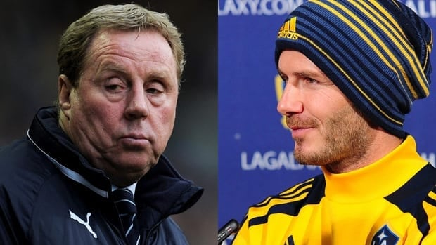 New QPR manager Harry Redknapp, left, says he may try and convince current Galaxy player David Beckham, right, to return to the Premier League.