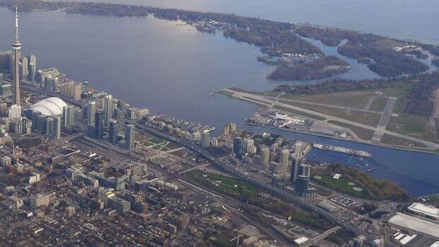 Tunnel construction is currently underway connecting Billy Bishop Airport with downtown Toronto.