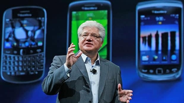 Mike Lazaridis, shown here in October 2011, founded BlackBerry maker Research in Motion in 1984. He and Jim Balsillie stepped down as co-CEOs of RIM on Jan. 22.
