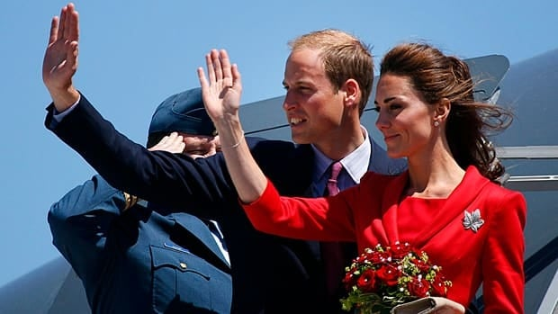 Prince William and Catherine, Duchess of Cambridge wave from the plane before leaving Canada after their 2011 tour.  Their pregnancy announcement last fall focused the minds of those eager to see gender discrimination removed from the royal line of succession.