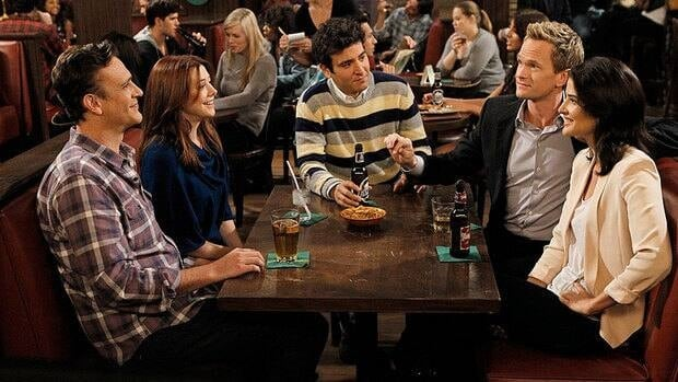 How I Met Your Mother, starring (from left) Jason Segel, Alyson Hannigan, Josh Radnor, Neil Patrick Harris and Cobie Smulders, will air a Canadian-themed episode on Monday. (Cliff Lipson/CBS/Associated Press)