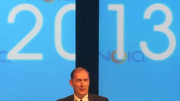 David Murray, the CEO of Black Spruce Exploration, addresses the Noia conference in St. John's on Tuesday.