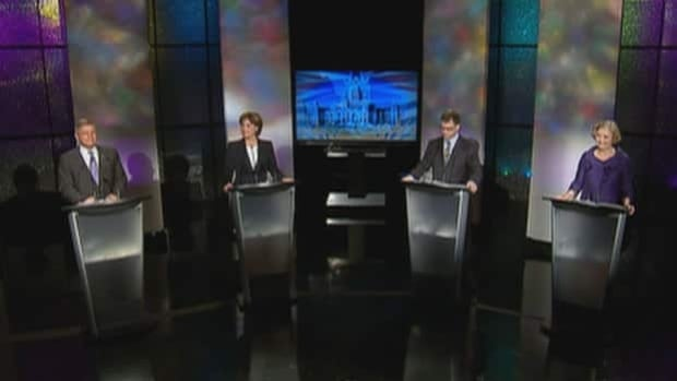 B.C.'s four major party leaders squared off in the only televised leaders' debate of the provincial election campaign on Monday night.