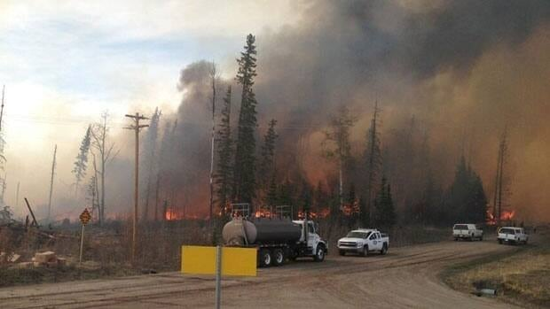 Wildfires rage near Nordegg, Alberta. Authorities have issued evacuation notices for Nordegg and Lodgepole.
