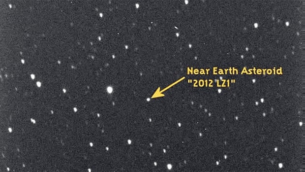 The recently discovered near-Earth asteroid 2012 LZ1 cruised past Earth on Thursday night.