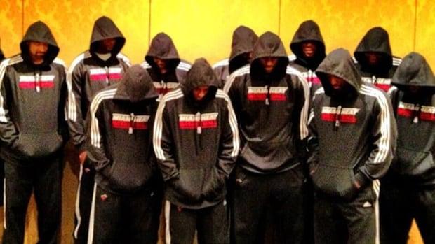 sale retailer e8950 6adcc Miami Heat honour shooting victim Trayvon Martin   CBC Sports