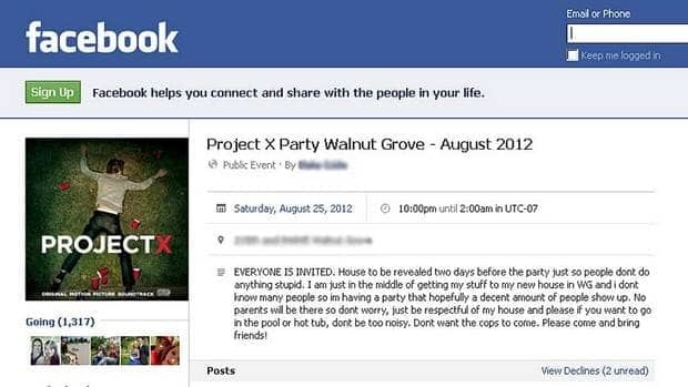 massive project x party planned for langley shut down by police, Party invitations
