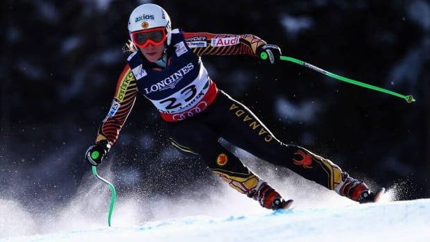 Ontario skier Larisa Yurkiw, shown here during the world championships on Feb. 8, won her first Canadian downhill title on Sunday since 2008.
