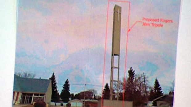 A proposed tower for Rogers Communications, in a church parking lot, received a poor reception at an open house with residents of the neighbourhood.