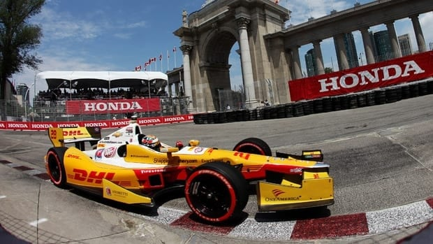 Ryan Hunter-Reay drives during qualifying for the IZOD INDYCAR Series Honda Indy Toronto on Saturday.
