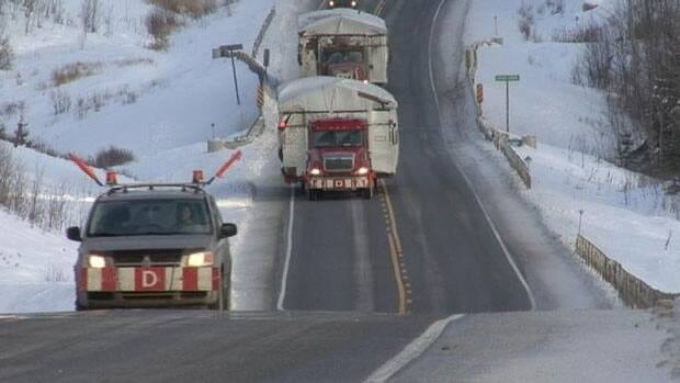 Modular homes destined for Attawapiskat made their way across northern Ontario, by road and rail, in late December 2011.