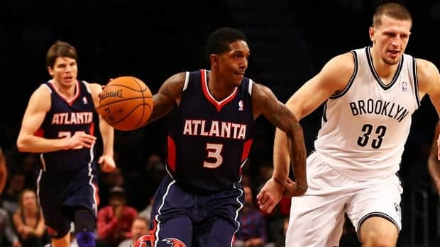 Atlanta Hawks guard Louis Williams tore the anterior cruciate ligament in his knee in the Hawks' game at Brooklyn on Jan. 18.