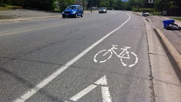 Sudbury's transportation plan calls for signs to be put up along some roads to warn drivers about cyclists, an option one city official calls the cheapest — and most likely to be done before bike lanes are created.