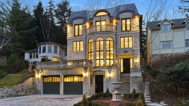 The Sotheby's report says the entry point for luxury homes in Toronto and Vancouver is getting higher, surpassing $2 million instead of the standard $1 million threshold.