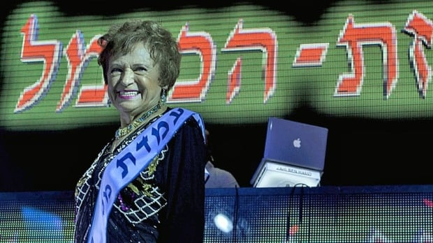 Mania Herman, a Holocaust survivor, participates in a beauty pageant in the northern Israeli city of Haifa. Fourteen women who lived through the horrors of the Second World War were vying for the honour of being crowned Israel's first 'Miss Holocaust Survivor.'