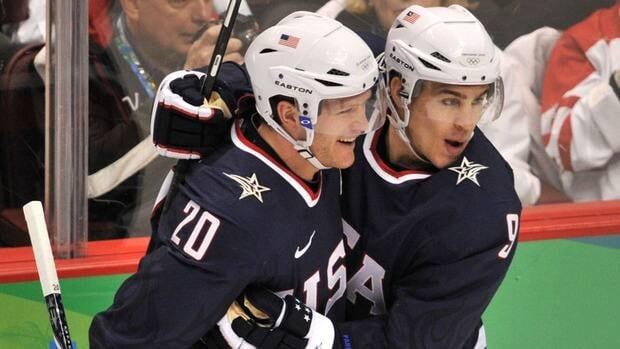 Ryan Suter, left, and Zach Parise, seen here celebrating a goal as members of Team USA during Winter Olympics in Vancouver in 2010, both signed lucrative long-term with the Minnesota Wild.