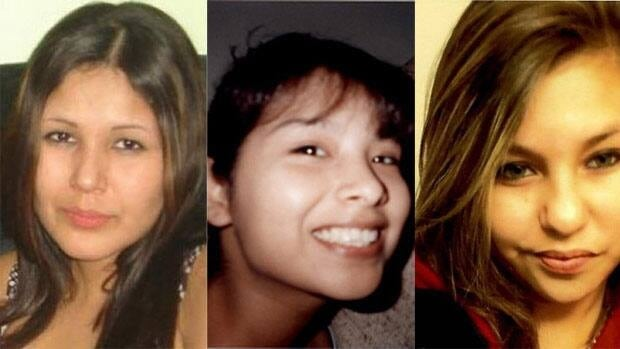 Shawn Lamb has been accused of the second-degree murder of three Winnipeg women, from left to right, Carolyn Sinclair, Tanya Jane Nepinak and Lorna Blacksmith.