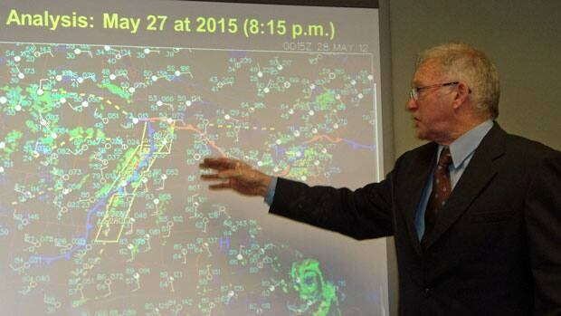 Independent meterologist Graham Saunders said it was about 15 minutes after the city set a rainfall record that Environment Canada issued a severe weather warning for the city on May 28.